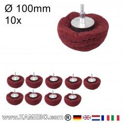 Kuppelförmiger Schleifmop Ø 100 mm P240 10 Stück