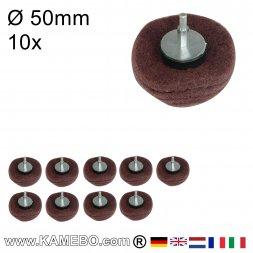Kuppelförmiger Schleifmop Ø 50 mm P240 10 Stück