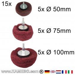 Kuppelförmiger Schleifmop Ø 50 / 75 / 100 mm P240 15 Stück