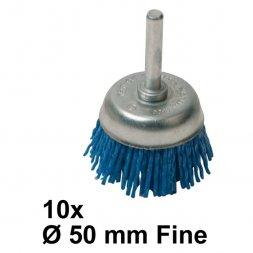 Nylon-Topfbürste mit Spannstift Ø 50 mm Fein 10 Stück