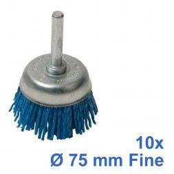 Nylon-Topfbürste mit Spannstift Ø 75 mm Fein 10 Stück