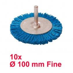 Nylon Rundbürste mit Spannstift Ø 100 mm Fein 10 Stück