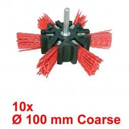 Nylon Fächerbürste mit Spannstift Ø 100 mm Grob 10 Stück