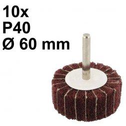 Schleifmop mit Spannstift Ø 60 x 30 mm P40 10 Stück