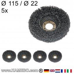 Nylon Siliziumkarbid Schleifscheibe Ø 115 mm 5 Stück