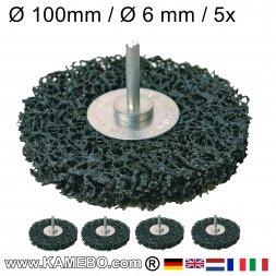 Nylon Siliziumkarbid Schleifscheibe mit Spannstift Ø 100 mm 5 Stück