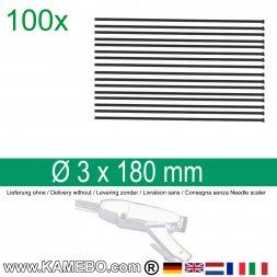 Nadeln für Nadelentroster 3x180 mm 100 Stück