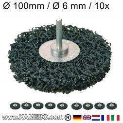 Nylon Siliziumkarbid Schleifscheibe mit Spannstift Ø 100 mm 10 Stück