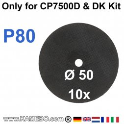 Trennscheiben für Mini-Trennschleifer CP7500D K80 10 Stück