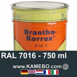 3in1 Militärlack Seidenglänzend RAL 7016 Blaugrün Nr. 4 / Luftwaffenblau / Anthrazitgrau 750 ml