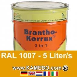 3in1 Militärlack Seidenglänzend RAL 1007 Narzissengelb 5 Liter
