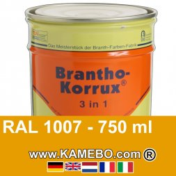 3in1 Militärlack Seidenglänzend RAL 1007 Narzissengelb 750 ml