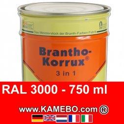 3in1 Militärlack Seidenglänzend RAL 3000 Feuerrot / Siegelrot 750 ml