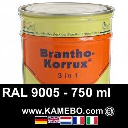 3in1 Militärlack Seidenglänzend RAL 9005 Schwarz / Tiefschwarz 750 ml