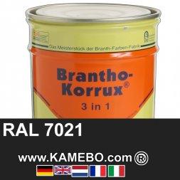 3in1 Militärlack Seidenglänzend RAL 7021 Dunkelgrau Nr. 46 / Schwarzgrau 20 Liter