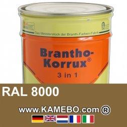3in1 Militärlack Seidenglänzend RAL 8000 Gelbbraun Nr. 16 / Grünbraun 20 Liter