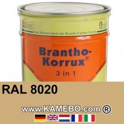 3in1 Militärlack Seidenglänzend RAL 8020 Afrika Braun Nr. 42 / Sandgelb 20 Liter