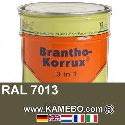 3in1 Militärlack Seidenglänzend RAL 7013 Braungrau 20 Liter