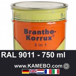 3in1 Militärlack Seidenglänzend RAL 9011 Graphitschwarz 750 ml