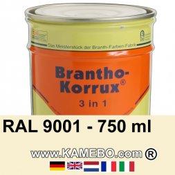 3in1 Militärlack Seidenglänzend RAL 9001 Cremeweiß 750 ml