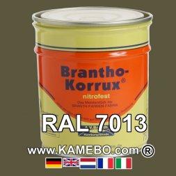 Militärlack Matt RAL 7013 Braungrau 25 Liter