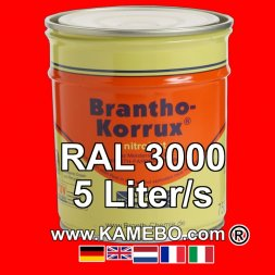 Militärlack Matt RAL 3000 Feuerrot / Siegelrot 5 Liter