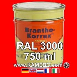 Militärlack Matt RAL 3000 Feuerrot / Siegelrot 750 ml