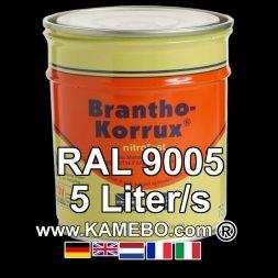 Militärlack Matt RAL 9005 Schwarz / Tiefschwarz 5 Liter
