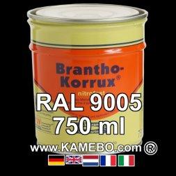 Militärlack Matt RAL 9005 Schwarz / Tiefschwarz 750 ml