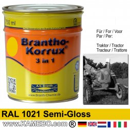 3in1 Tractor Paint Semi-Gloss RAL 1021 Rape yellow 750 ml
