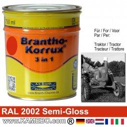 3in1 Traktor Lack Seidenglänzend RAL 2002 Blutorange 750 ml