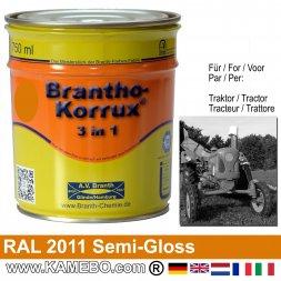3in1 Traktor Lack Seidenglänzend RAL 2011 Tieforange 750 ml