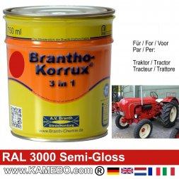 3in1 Traktor Lack Seidenglänzend RAL 3000 Feuerrot / Siegelrot 750 ml