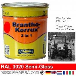 3in1 Traktor Lack Seidenglänzend RAL 3020 Verkehrsrot 750 ml