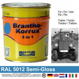 3in1 Traktor Lack Seidenglänzend RAL 5012 Lichtblau 750 ml