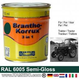 3in1 Traktor Lack Seidenglänzend RAL 6005 Moosgrün 750 ml