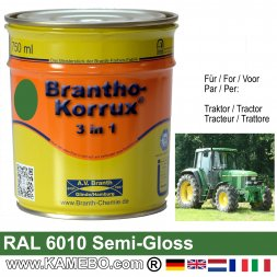 3in1 Traktor Lack Seidenglänzend RAL 6010 / 0610 Naturgrün 750 ml