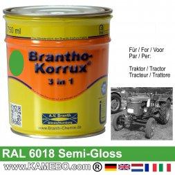 3in1 Traktor Lack Seidenglänzend RAL 6018 Gelbgrün 750 ml