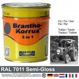3in1 Traktor Lack Seidenglänzend RAL 7011 Eisengrau 750 ml