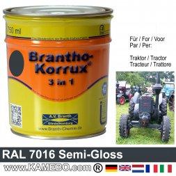3in1 Traktor Lack Seidenglänzend RAL 7016 Anthrazitgrau 750 ml
