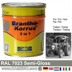 3in1 Traktor Lack Seidenglänzend RAL 7023 Betongrau 750 ml