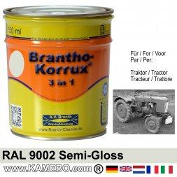 3in1 Traktor Lack Seidenglänzend RAL 9002 Grauweiß 750 ml