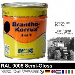 3in1 Traktor Lack Seidenglänzend RAL 9005 Schwarz / Tiefschwarz 750 ml