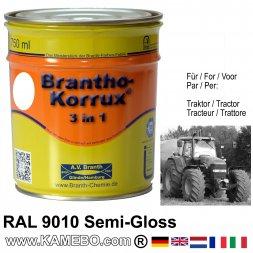 3in1 Traktor Lack Seidenglänzend RAL 9010 Weiß / Reinweiß 750 ml