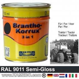 3in1 Traktor Lack Seidenglänzend RAL 9011 Graphitschwarz 750 ml