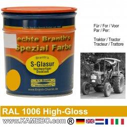 Traktorlack Hochglänzend RAL 1006 Maisgelb / Gelb 750 ml
