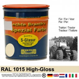 Traktorlack Hochglänzend RAL 1015 Hellelfenbein 750 ml