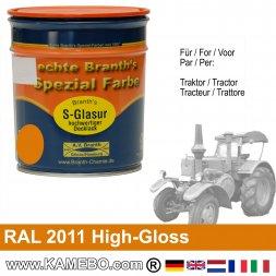 Traktorlack Hochglänzend RAL 2011 Tieforange / Orange 750 ml