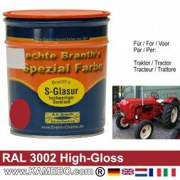 Traktorlack Hochglänzend RAL 3002 Karminrot / Rot 750 ml