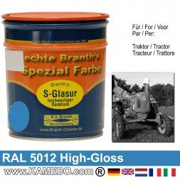 Traktorlack Hochglänzend RAL 5012 Lichtblau / Blau 750 ml